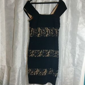 Adrianna Papell Little Black Lace Dress